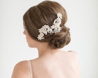 Wedding Hair Comb, Floral Bridal Comb, Wedding Hair Accessory