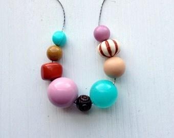 clowning around - necklace - vintage lucite