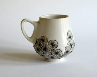 Starburst Mug in Black and White