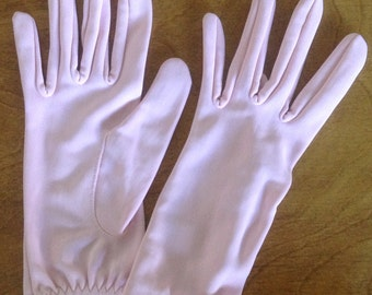 Girls' Pink Nylon Gloves, Paris Gloves, Size A, Made in Hong Kong