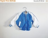 SALE // Vintage Blue and White Baby Jacket
