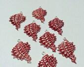 8 pc vintage enamel shell charms lot destash