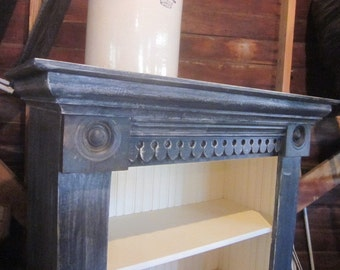 Hand Made Bookshelf from Architectural Salvage