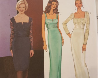 Formal Dress Prom Wedding MOB Bridesmaid 6 8 10 Butterick 3633
