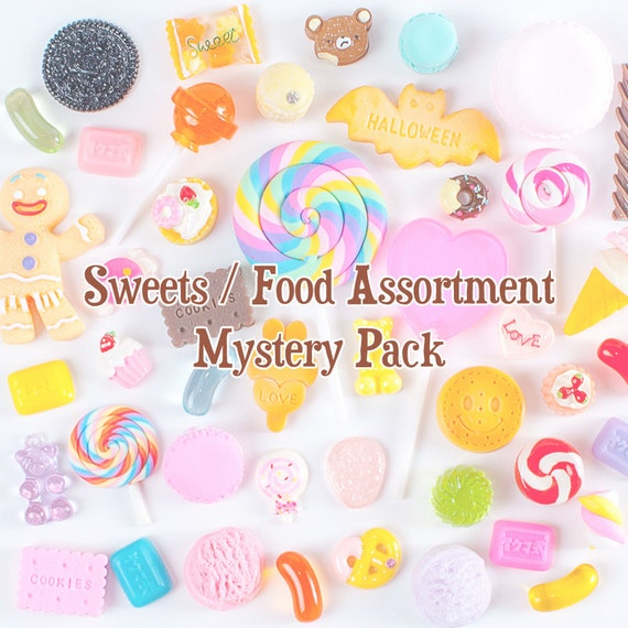 Cabochons Decoden Assortment Mix Mystery Grab Bag (Sweets) - 20 pc