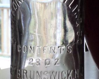 The Hadkins Bottling Co New Brunswick NJ New Jersey Soda Bottle Tottenville NY
