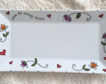 serving tray in porcelain