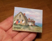 Miniature Cottage Painting  1:12 scale