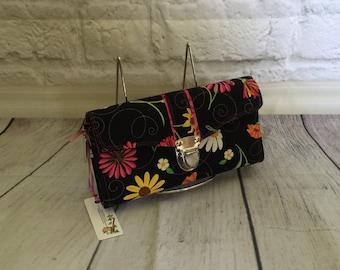Ladies wallet, clutch wallet, acordion wallet, Floral Necessary Clutch Wallet