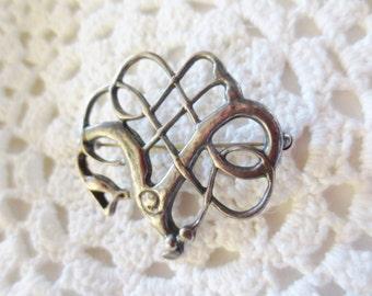 David Anderson Viking Brooch Vintage Pin Sterling Silver Norway 925