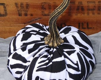 Scented  Pumpkin, Black/White Zebra Print