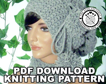 Slouchy Scarflette PATTERN, Carina, PDF DOWNLOAD