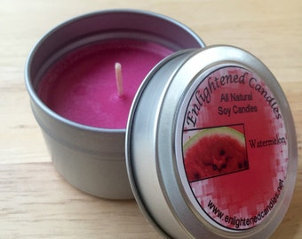 4oz Watermelon Soy Candle Tin