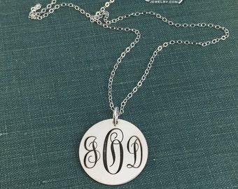 Monogram Jewelry, Monogram Charm, Monogram Necklace, Sterling Silver Monogram, Engraved Jewelry, Personalized Jewelry, Monogram