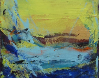 Abstract Landscape Modern Art, 24 x 24 inches, Contemporary Painting by Francine Ethier