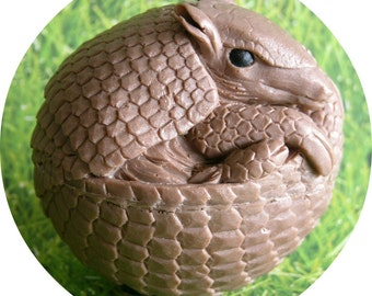ARMADILLO Soap - Animal Home Decor Unique Highly Detailed Gift Soap - Scented - Handmade In USA - Detergent Free Glycerin Soap