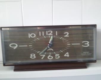Vintage Seiko Corona Fancy 2 Jewels Alarm Clock