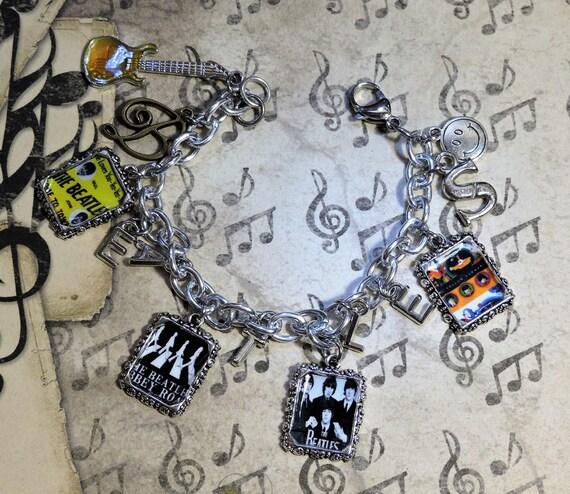 Beatles Charm Bracelet: The Beatles Inspired Charm Bracelet Band Music Legend