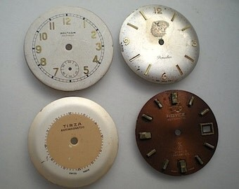4 vintage steampunk watch faces (BU4)