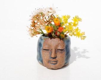 Tiny miniature small ceramic vase flower holder bud vase garden display