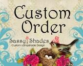 CUSTOM order for Sherry - Drum Shade - Lamp Shade - Pendant Shade - Boho Lamp Shade - Amy Butler - Modern Pendant Shade - Lampshade