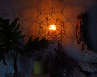 Candle Lantern,Hanging, Wire, Candle Holder