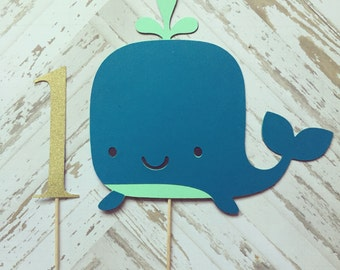 Whale Cake Topper- smash cake, first birthday