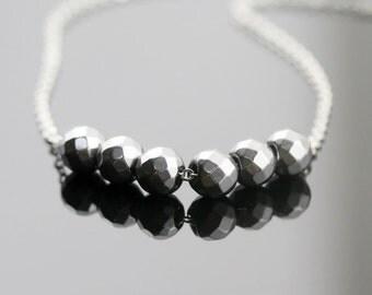 Protection necklace - hematite