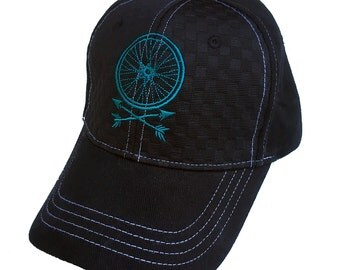 Wheel and Arrows velcro back Hat
