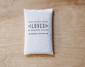 Greek Proverb Lavender Sachet - Heart Quote - Scented Sachet - Inspirational Gift for Her