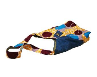 Yellow, Red, Cross Body, Hip Bag, Fair Trade, Artisan, Malawi, Africa, African Print, Handbag, Bag, Messenger, Free Shipping, HIP-017