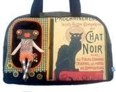 """Bag molly creative bag unique bag n11a """"Le chat noir"""""""