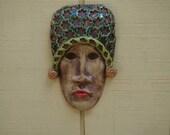 The Princess Ceramic Mask-ceramic Wall Art