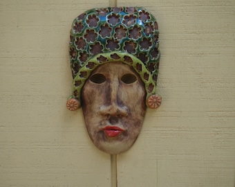 The Princess Ceramic Mask-ceramic Wall Art