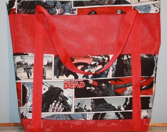 Walking Dead Vinyl Mesh Tote