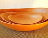 Serving Bowl Set of 3 Micaceous Ceramic Bowls / Nesting Bowls / Handmade Ceramics and Pottery / Micaceous Glitter / Serving Plates
