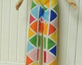 Cute Slim Pants for Blythe Doll, Rainbow Triangle Pattern