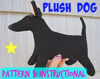 Plush Dog Stuffed Animal Tutorial- How To Instructional for Youtube Video Tutorial - Claire Sophia
