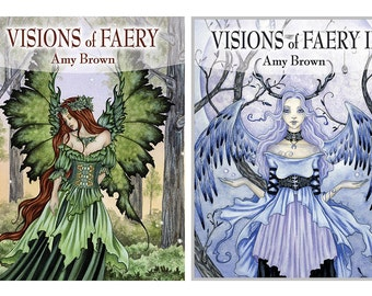 Art BOOK SET Visions of Faery volume 1 and 2 by Amy Brown signed by artist