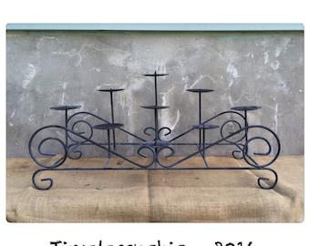 Fireplace Candelabra - Metal Candelabra - Black Candelabra - Candle Holder - Pillar Candle Holder - Rustic Decor - CHIC
