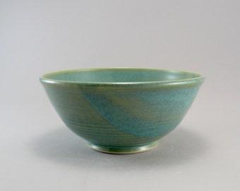 Ceramic Bowl, Salad Bowl, Celadon Bowl, Pasta Bowl, Teal Bowl, Ready to Ship.