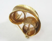 Vintage Napier Brooch Pin - Mid Century Modern - Gold Tone - 1960s -1970s