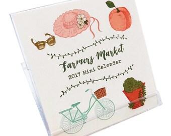 Farmers Market Mini Desk Calendar