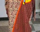 Long bright dress Caftan vintage but new sz L Marahaba made in India