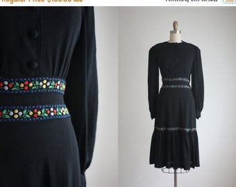 VACATION SALE. 1940s bohemia dress