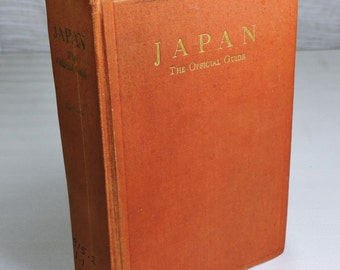 Vintage Japanese Guide Book 1955 Maps