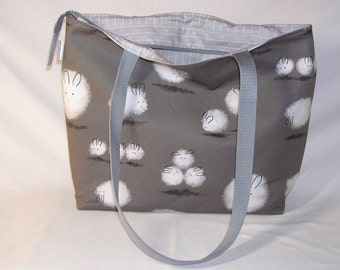 Dust Bunnies Zippered Tory Tote Limited Edition