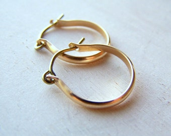 Gold Earrings - Niobium Earrings - Hoop Earrings - Gold Hoop Earrings - Hypoallergenic Earrings - Hypoallergenic Jewelry - Classic Jewelry