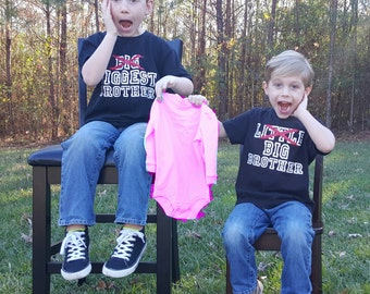 Baby Announcement 2 Boys Custom Shirts Little No Big Brother And Big No Biggest Brother Shirts Custom Design
