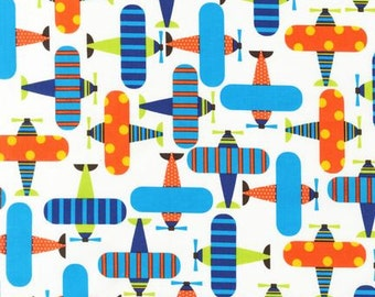 Ready Set Go Planes Bright Ann Kelle Designs Robert Kaufman Fabric